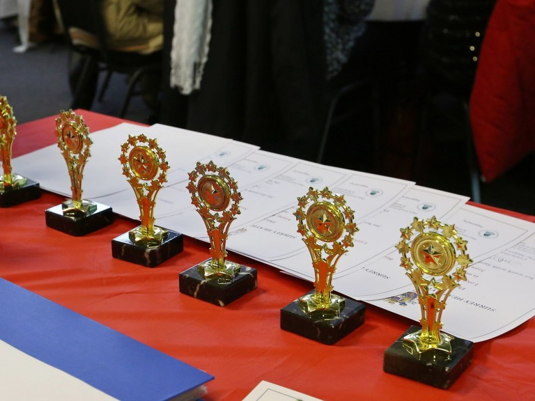 Trophies and certificates