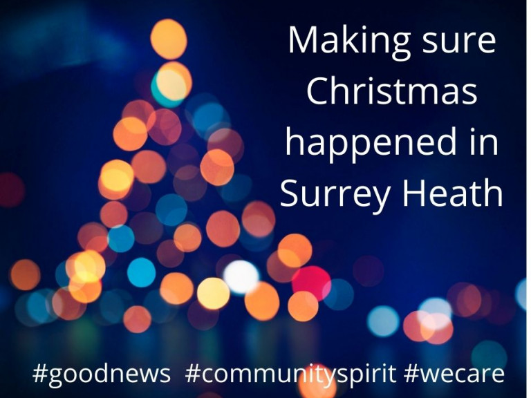 Making sure Christmas happened in Surrey Heath #goodnews