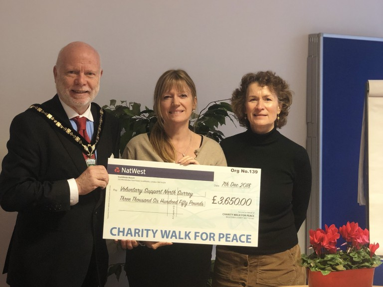 Charity Walk for Peace cheque photo 1