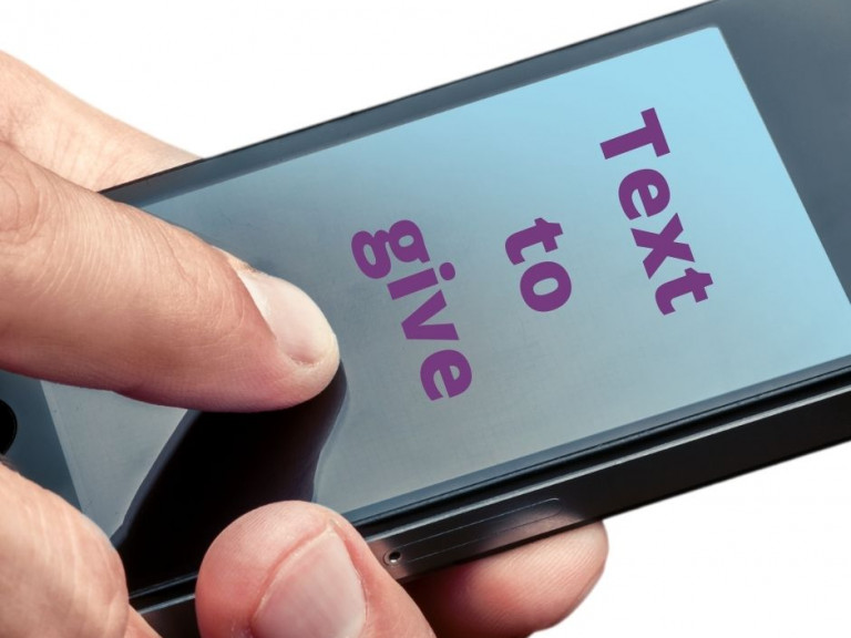 Text to give